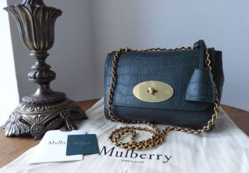 Mulberry Lily in 'Mulberry' Green Matte Croc Printed Leather - New