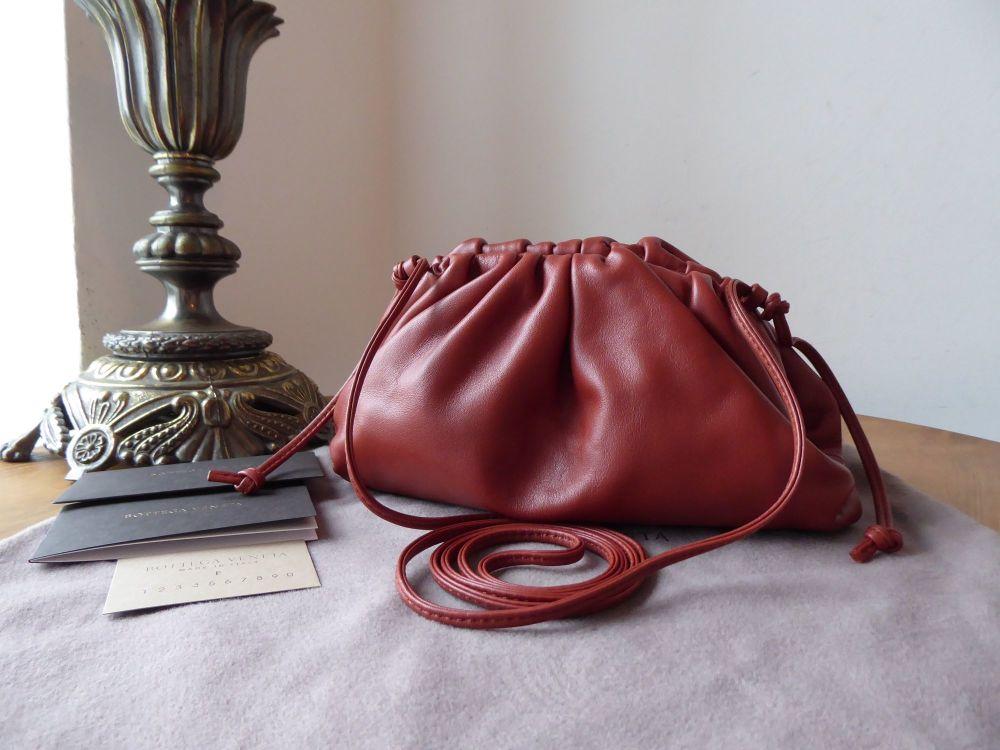 Bottega Veneta The Mini Pouch in Rust Calfskin Nappa - As New