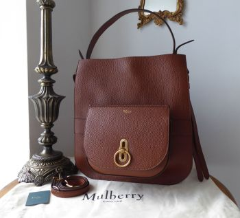Mulberry Amberley Hobo in Oak Grain Vegetable Tanned Leather - New