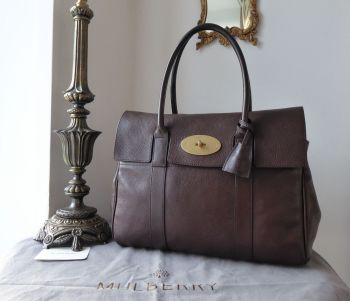 Mulberry Classic Heritage Bayswater in Chocolate Natural Vegetable Tanned Leather
