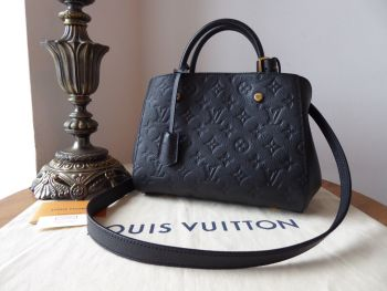 Louis Vuitton Montaigne BB in Monogram Noir Empreinte - As New*
