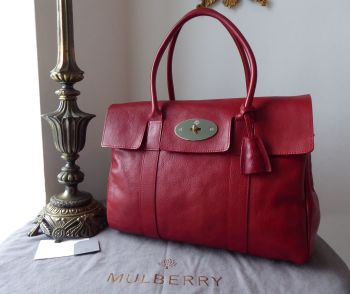 Mulberry Classic Heritage Bayswater in Poppy Red Coloured Vegetable Tanned Leather