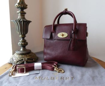 Mulberry Mini Cara Delevingne Backpack in Oxblood Coloured Vegetable Tanned Leather - New