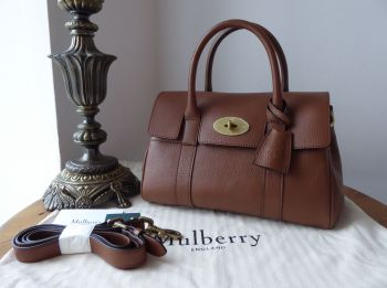 Mulberry Small Bayswater Satchel in Oak Classic Grain Leather -  New