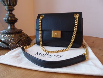 Mulberry Mini Cheyne in Black Smooth Calf with Golden Brass Hardware