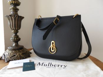 Mulberry Amberley Satchel in Black Small Classic Grain - New