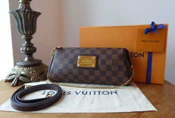 Louis Vuitton Eva Shoulder Clutch in Damier Ebene