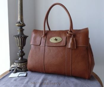 Mulberry Classic Heritage Bayswater in Oak Natural Vegetable Tanned Leather with Pilo