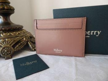 Mulberry Credit Card Slip Holder in Dark Blush Smooth Calf - New