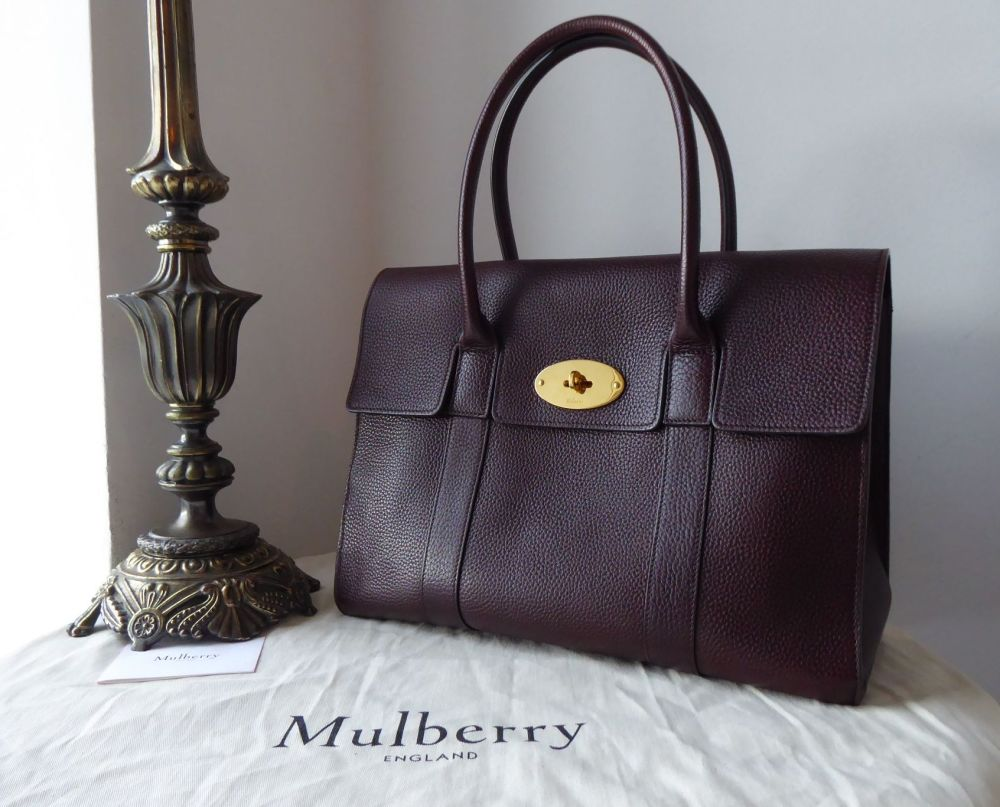 Mulberry Coca Bayswater in Oxblood Grained Vegetable Tanned Leather