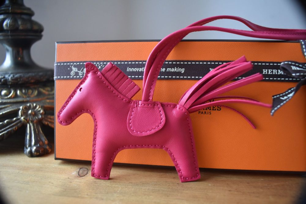 Hermés Rodeo PM Horse Bag Charm in Rose Mexico - New*