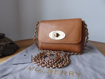 Mulberry Mini Lily in Oak Natural Vegetable Tanned Leather