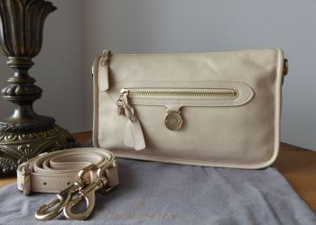 Mulberry Somerset Small Satchel Shoulder Messenger in Marshmallow Soft Matte Leather