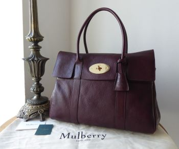 Mulberry Classic Heritage Bayswater in Oxblood Natural Coloured Vegetable Tanned Leather