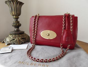 Mulberry Regular Lily in Poppy Red Coloured Vegetable Tanned Leather
