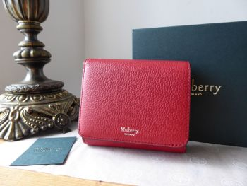 Mulberry Small Continental French Purse in Scarlet Small Classic Grain