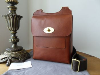 Mulberry Classic Antony in Dark Oak Soft Buffalo Leather with Brass Hardware