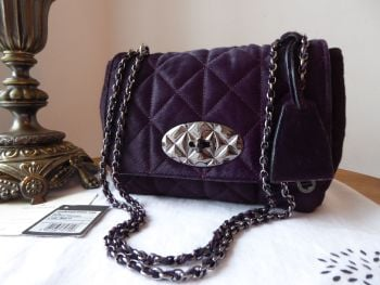 Mulberry Quilted Lily in Red Onion Haircalf with Dark Silver Hardware