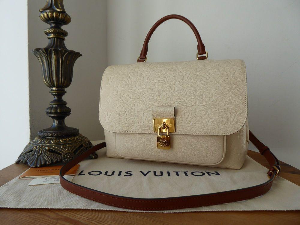 Louis Vuitton Marignan in Crème Caramel Monogram Empreinte