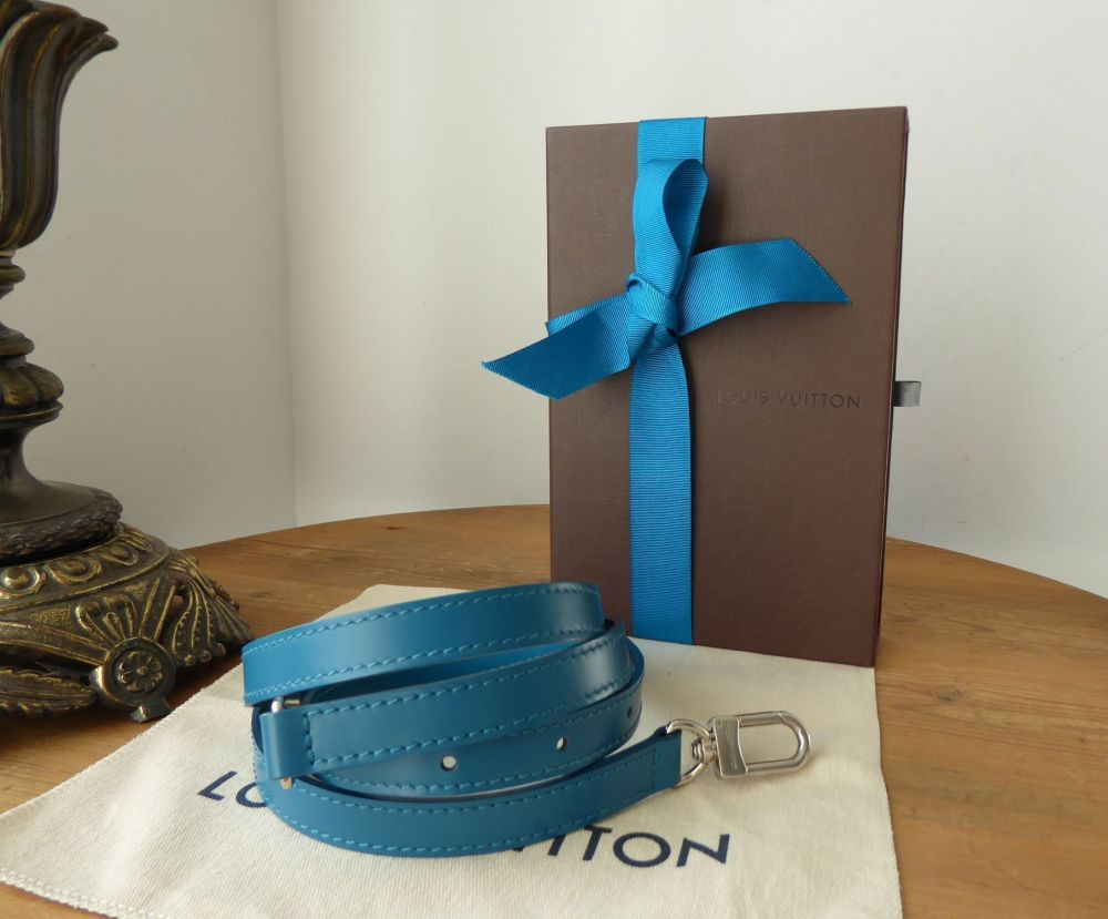 Louis Vuitton Adjustable Shoulder Strap 16mm in Cyan