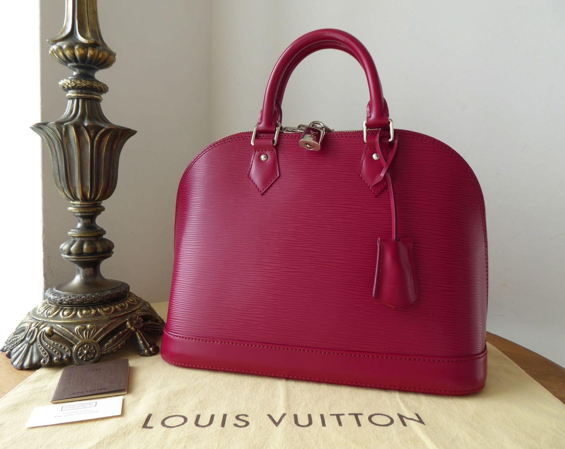 Louis Vuitton Alma PM in Epi Fuchsia