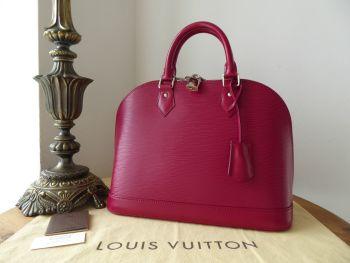 Louis Vuitton Alma PM in Epi Fuchsia with Shiny Silver Hardware.