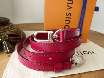 Louis Vuitton Adjustable Shoulder Strap 16mm in Fuchsia with Shiny Silver Hardware