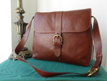 Mulberry Large Vintage Reporter Satchel in Chestnut Wexford Leather
