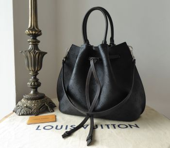 Louis Vuitton Girolata in Mahina Noir Calfskin with Zip Pouch and Silver Hardware