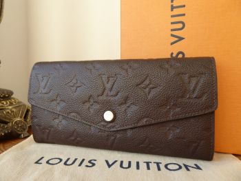 Louis Vuitton Curieuse Long Wallet & Zip Pouch in Terre Brown Monogram Empreinte
