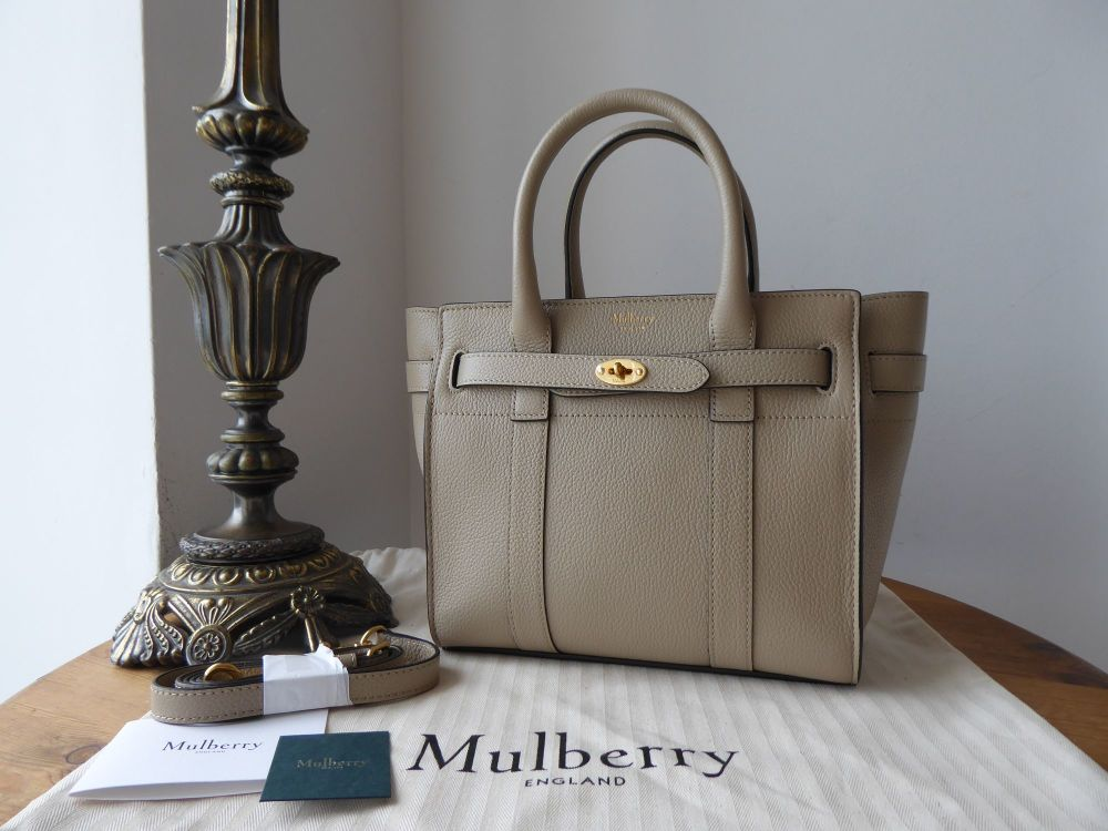 Mulberry Mini Zipped Bayswater in Dune Small Classic Grain - New