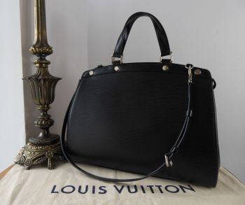 Louis Vuitton Brea GM Zip Tote in Epi Noir with Silver Hardware