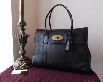 Mulberry Classic Heritage Bayswater in Black Natural Leather with Pillo