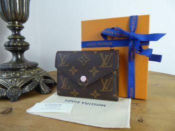 Louis Vuitton Victorine Wallet Compact Purse in Monogram Rose Ballerine - As New