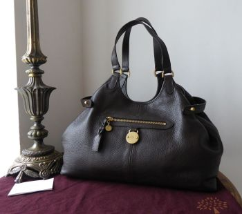 Mulberry Somerset Shoulder Tote in Chocolate Pebbled Leather - As New*
