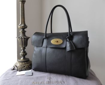 Mulberry Classic Heritage Bayswater in Black Natural Vegetable Tanned Leather