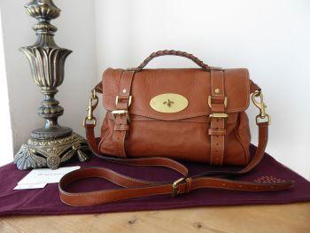 Mulberry Classic Regular Alexa Satchel in Oak Soft Buffalo Leather