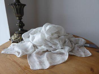 Alexander McQueen Ghost Skulls Scarf Wrap in 100% Silk Chiffon