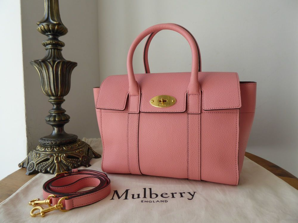 Mulberry Small Coca Bayswater Satchel in Macaroon Pink Small Classic Grain