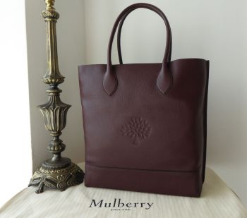 Mulberry Blossom Tote in Oxblood Classic Grain & Felt Liner - New*