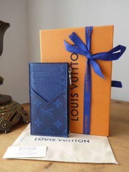 Louis Vuitton Coin Card Holder in Taigarama Cobalt Blue Monogram