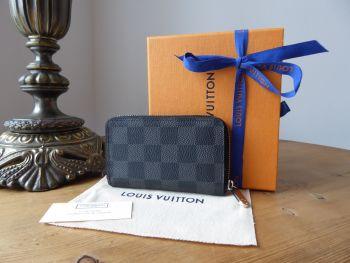 Louis Vuitton Vertical Zippy Coin Purse Card Holder in Damier Graphite