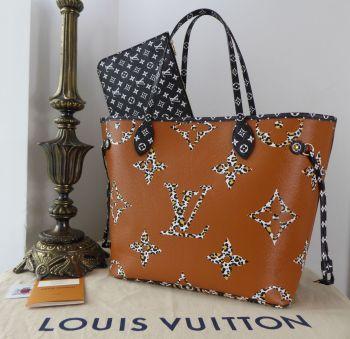 Louis Vuitton Limited Edition Neverfull MM Jungle Monogram Noir