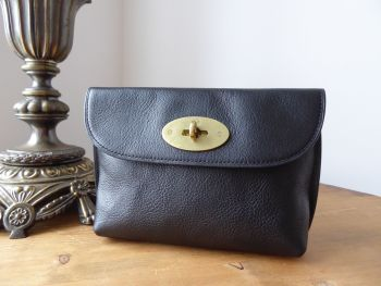Mulberry Postmans Locked Cosmetic Pouch in Black Natural Leather