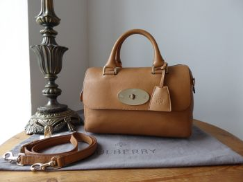 Mulberry Small Del Rey in Deer Brown Glossy Goat Leather