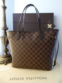 Louis Vuitton Neverfull MM in Damier Ebene without Zip Pouch