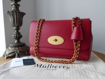 Mulberry Medium Lily in Scarlet Red Small Classic Grain - New