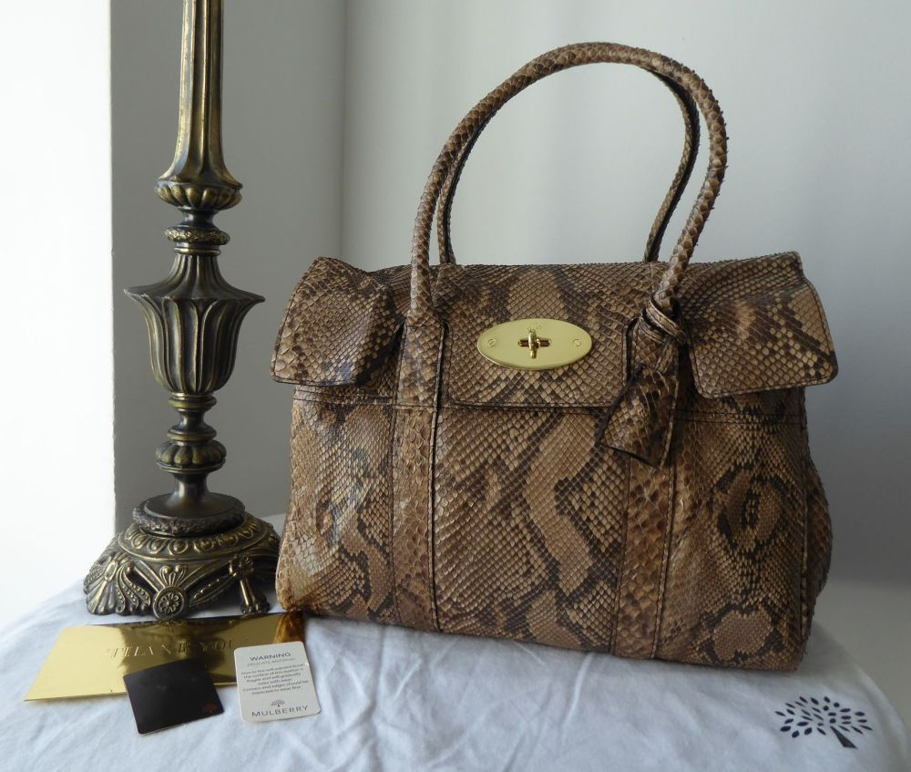 Mulberry Classic Heritage Bayswater in Natural Python