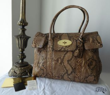 Mulberry Classic Heritage Bayswater in Natural Python Leather
