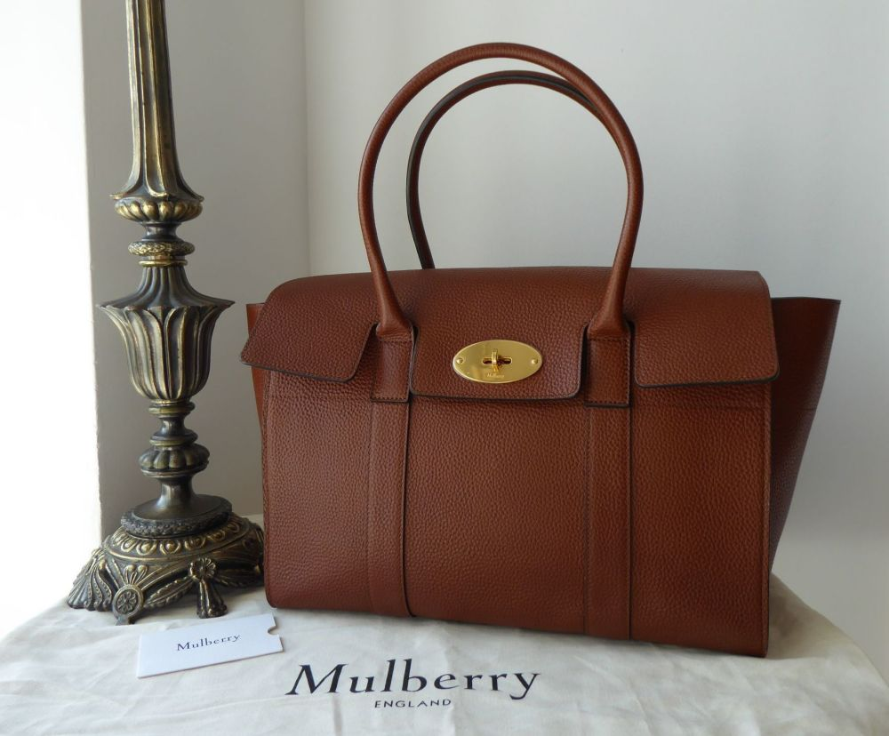 Mulberry Coca Bayswater in Oak Grained Vegetable Tanned Leather